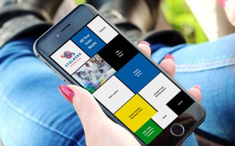 www.stolbergint.eu, Farbenproduktion, NL-Bussum, Typo3-Homepage